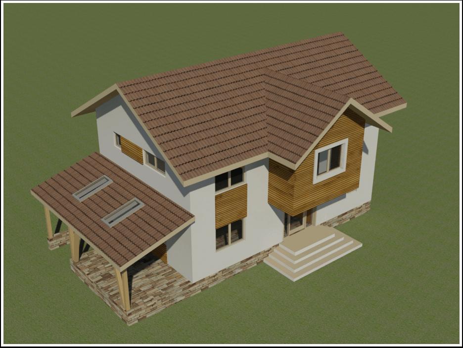 proiectul casei de la munte-vedere de sus