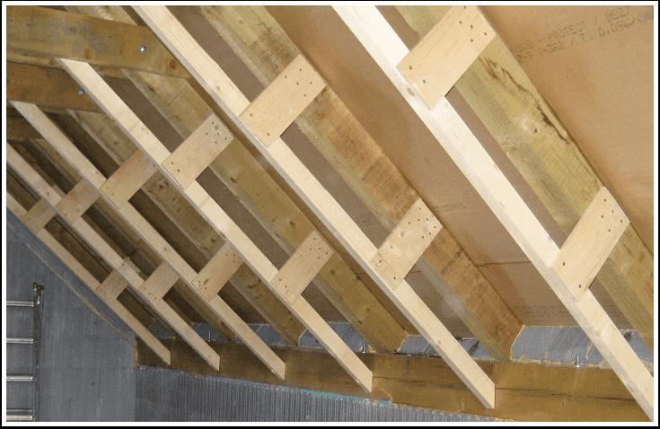 Caroiaj din lemn extensie a capriorilor