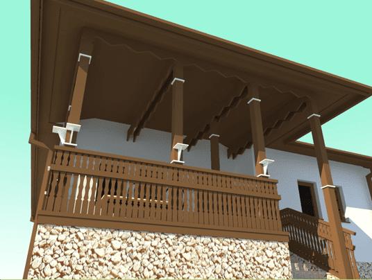 Casa in stil romanesc acces foisor 3