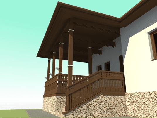Casa in stil romanesc acces foisor 4