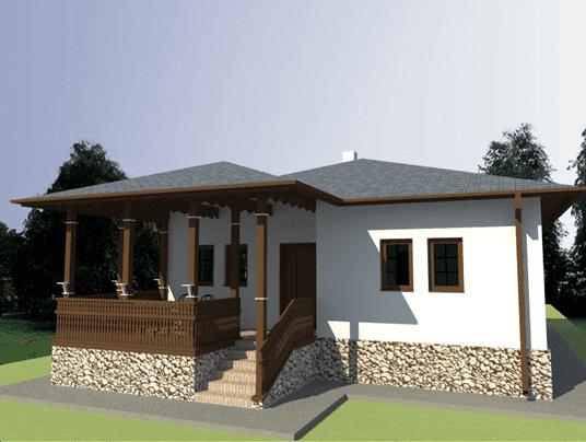 Casa in stil romanesc vatada sud 2