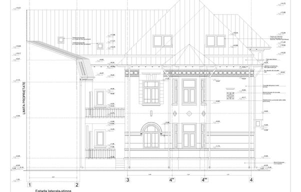 casa in stil neoromanesc fatada stanga