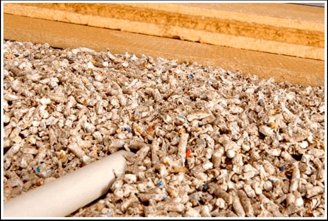 izolatie cu fibre de celuloza sub forma de granule