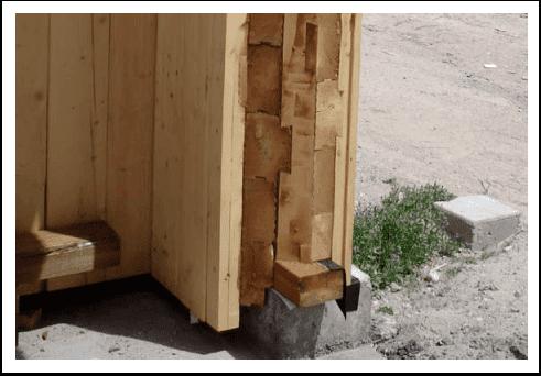 Conectare perete ICLT la fundatie
