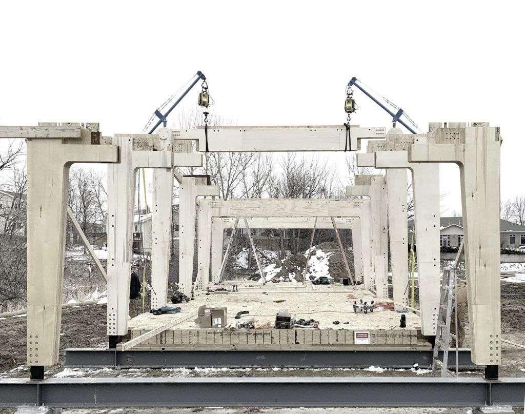 Constructia structurii de lemn laminat Minka