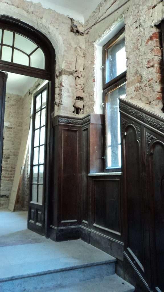 Holul de intrare cu lambriurile peretilor 4